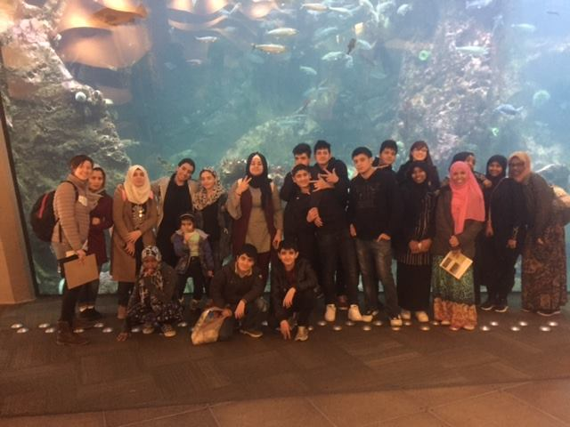 CRB youth program field trip to the Seattle Aquarium.